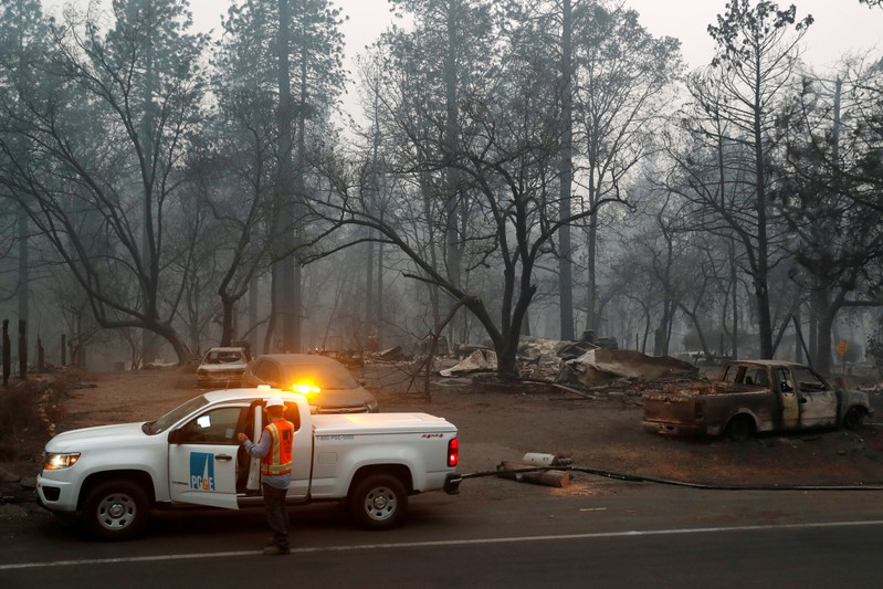 Utility sued for billions over California wildfire, seeks bankruptcy protection