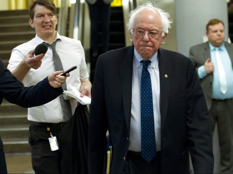 Sen. Bernie Sanders I-Vt. heads to his office at the Capitol in Washington Friday Dec. 21 2018