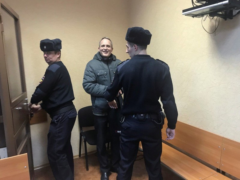 A Jehovah's Witness is given Russia's first prison sentence under extremism law