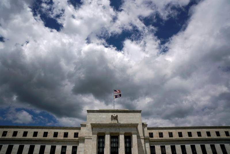 FILE PHOTO: Clouds over the Federal Reserve in Washington