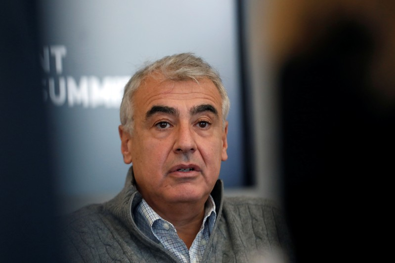 Marc Lasry, CEO and Co-Founder of Avenue Capital Group, speaks during the Reuters Global Investment Outlook Summit in New York