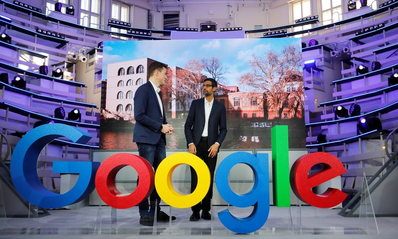 FILE PHOTO: Opening of the new Alphabet's Google Berlin office in Germany