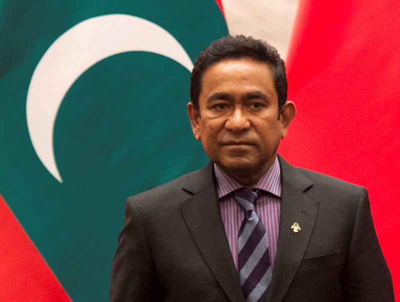 FILE PHOTO: Maldives President Abdulla Yameen attends a meeting in Beijing