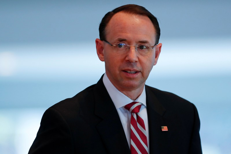 FILE PHOTO: U.S. Deputy Attorney General Rod J. Rosenstein attends the Los Angeles Crimefighters Leadership Conference