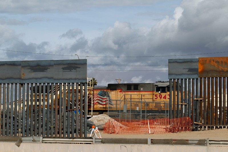 A view shows a new section of the border fence in El Paso, Texas, U.S., as seen from Ciudad Juarez