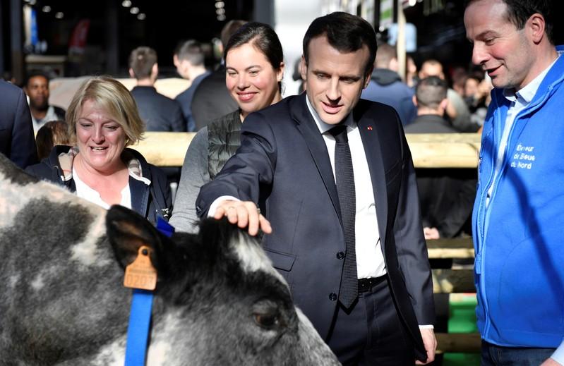 French President Emmanuel Macron at the International Agriculture Fair (Salon de l'Agriculture) in Paris