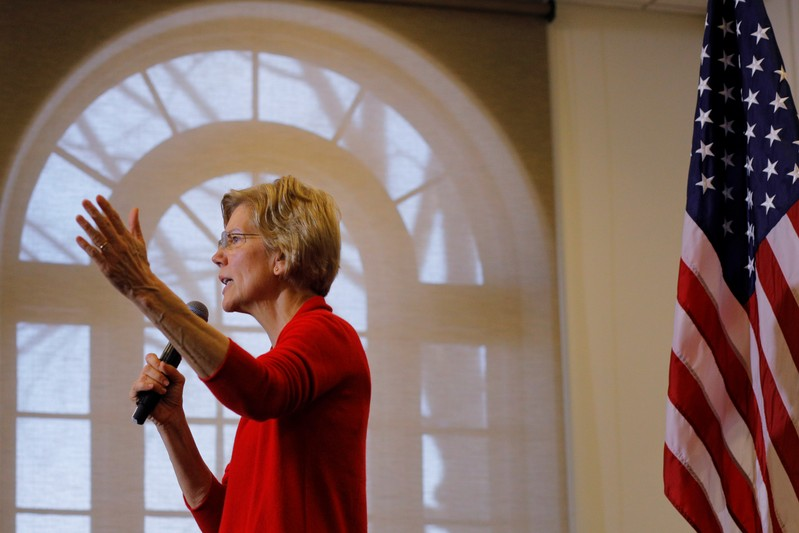 Democratic 2020 U.S. presidential candidate Warren speaks at Plymouth State University in Plymouth