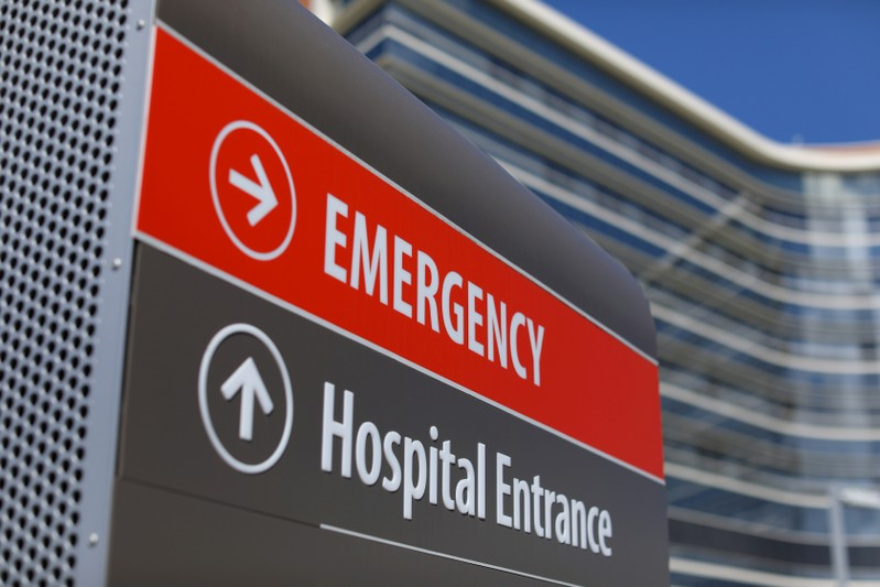 Hospital emergency sign in La Jolla, California
