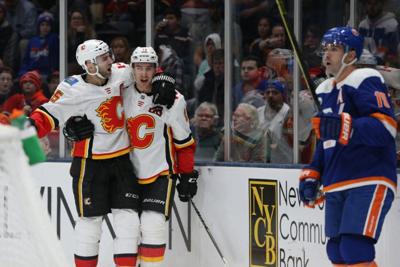 NHL: Calgary Flames at New York Islanders