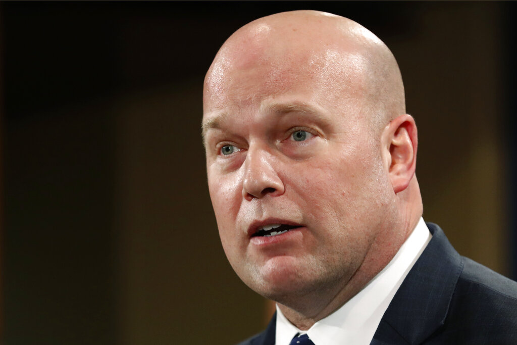 FILE – Acting Attorney General Matt Whitaker