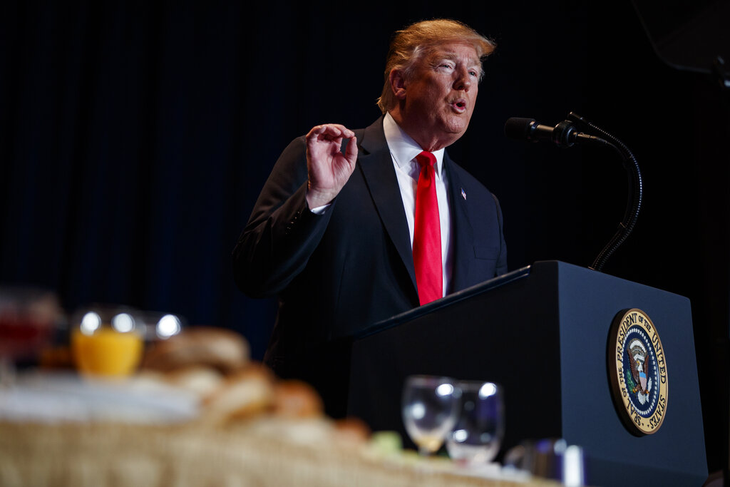 Trump Receives Standing Ovation At National Prayer Breakfast For Defending Pro-Life Values