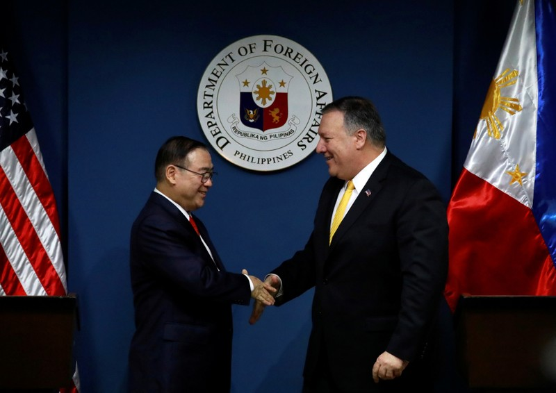 U.S. vows Philippines aid against armed attack in South China Sea