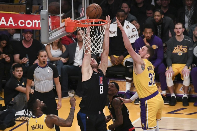 NBA Los Angeles Clippers at Los Angeles Lakers