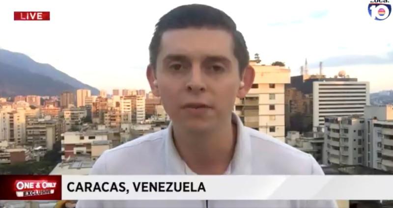 American journalist Cody Weddle speaks in Caracas