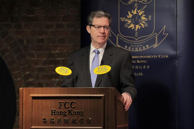 Sam Brownback, U.S. ambassador for International Religious Freedom, attends the Hong Kong Foreign Correspondents' Club in Hong Kong