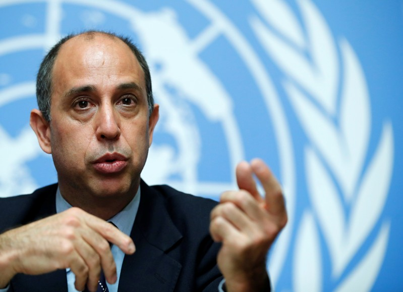 FILE PHOTO: Special Rapporteur on the situation of human rights in North Korea Quintana attends a news conference at the United Nations in Geneva