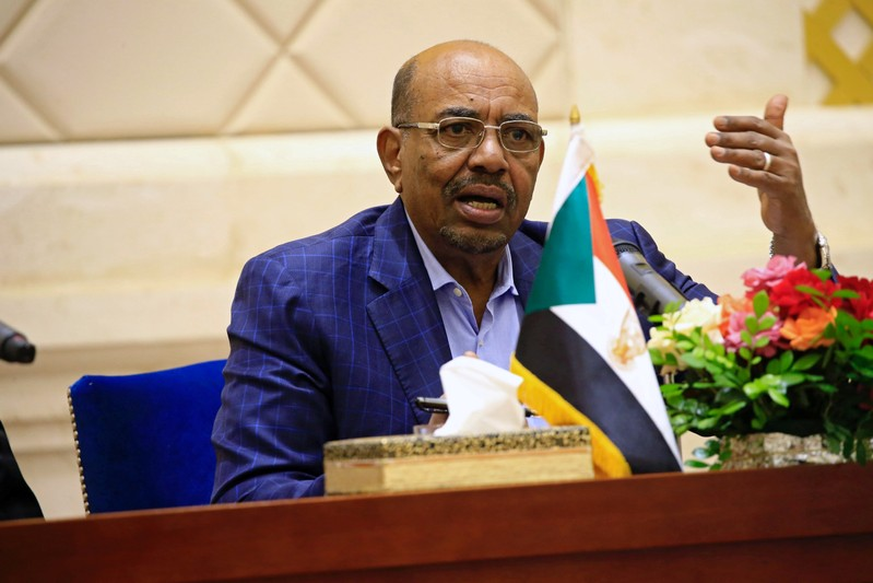 FILE PHOTO: Sudanese President Omar Hassan al-Bashir speaks during a press conference in Khartoum