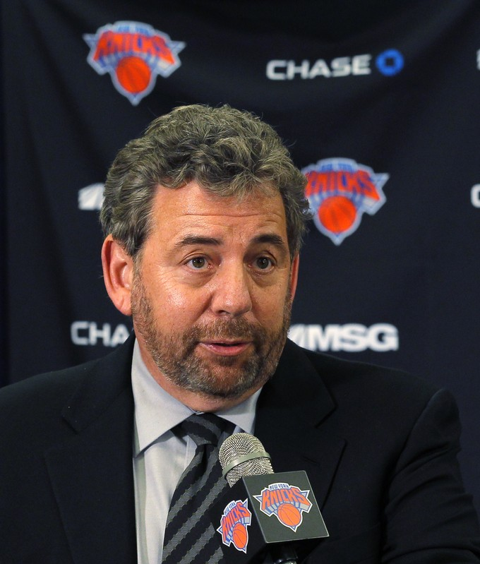 New York Knicks owner Dolan speaks during a news conference announcing the team's new head coach in New York