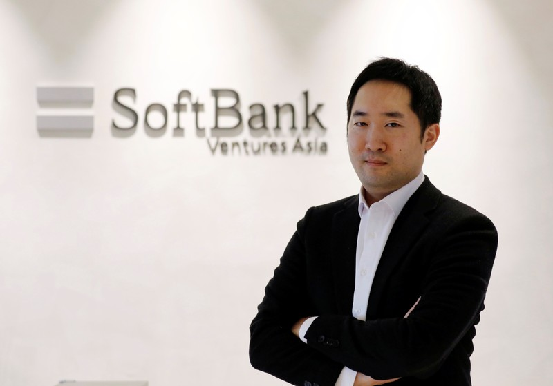 JP Lee, CEO and Managing Partner of SoftBank Ventures Asia, poses for a photograph at the company in Seoul