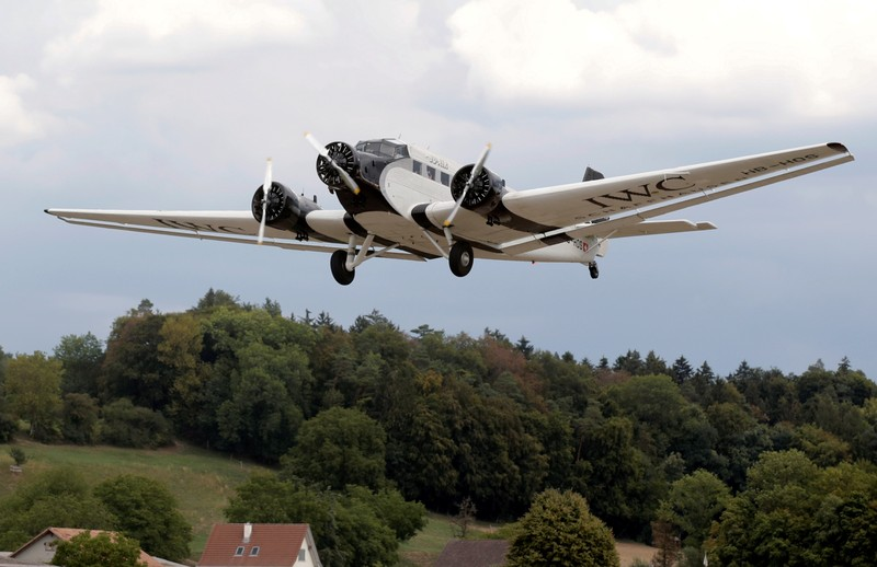 FILE PHOTO: A Junkers Ju-52 airplane of JU-AIR airline takes-off from the airport in Duebendorf