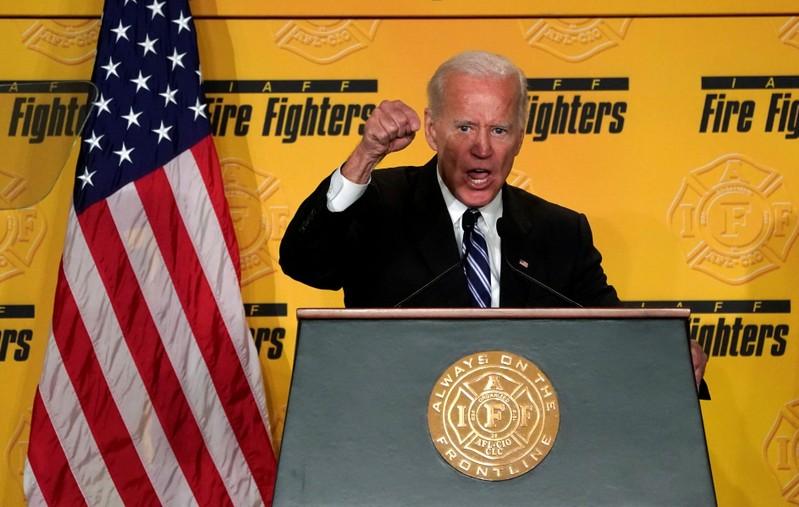 Joe Biden speaks in Washington