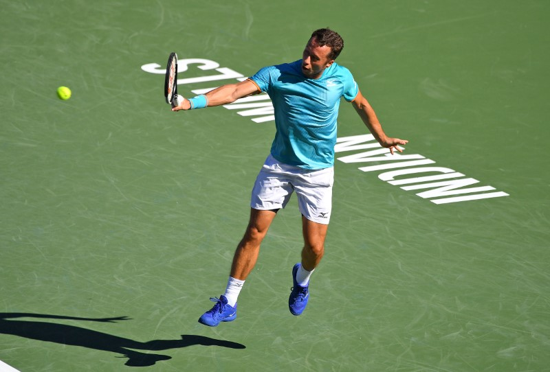 Kohlschreiber shocks top-ranked Djokovic in Indian Wells 3rd round