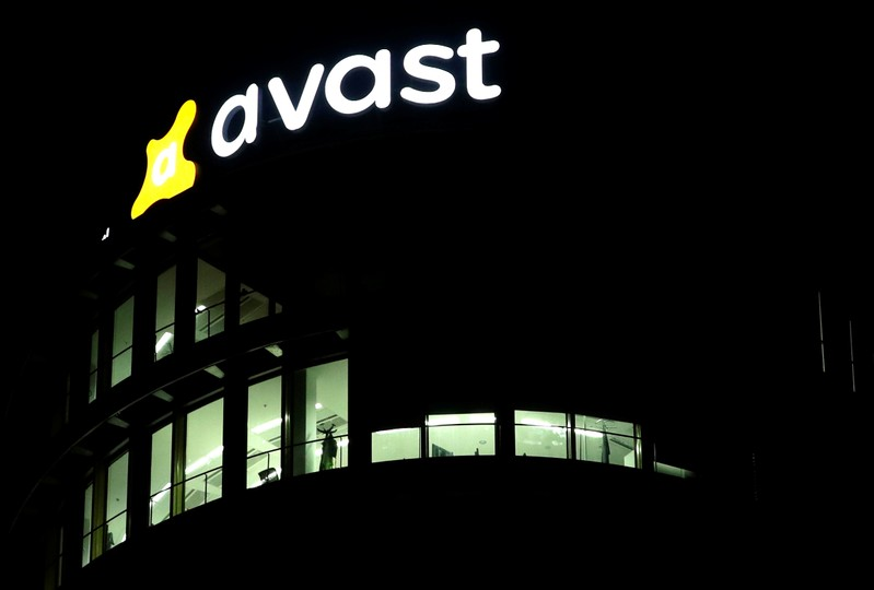 FILE PHOTO: The logo of Avast Software company is seen at its headquarters in Prague