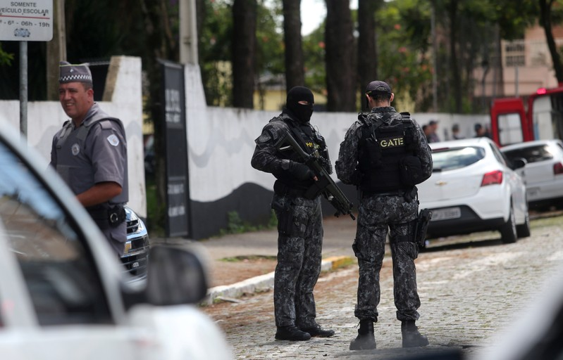 At least 8 people, attackers dead after school shooting in Brazil