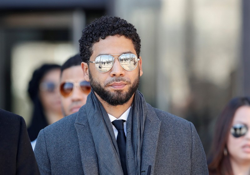 Actor Jussie Smollett arrives to attend a hearing the Leighton Criminal Court Building in Chicago