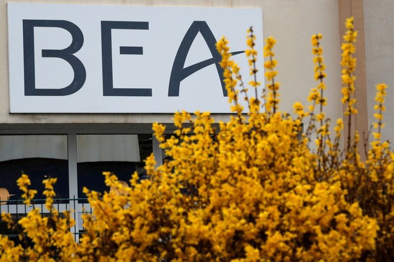 A view shows the headquarters of France's BEA air accident investigation agency in Le Bourget