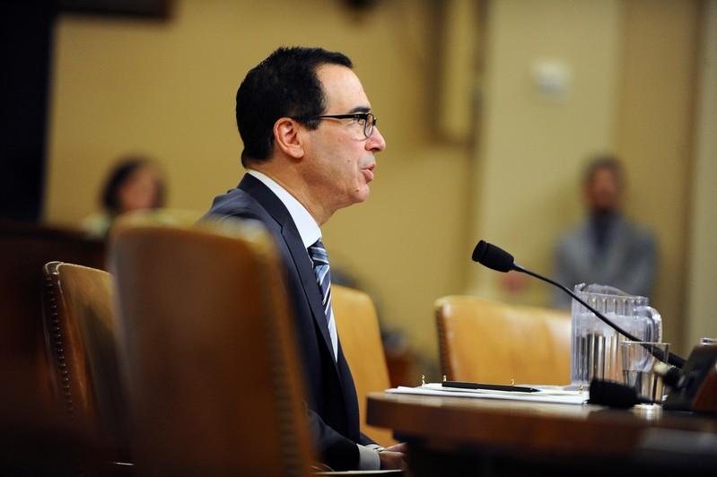 U.S. Treasury Secretary Steven Mnuchin testifies at U.S. House Ways and Means Committee hearing