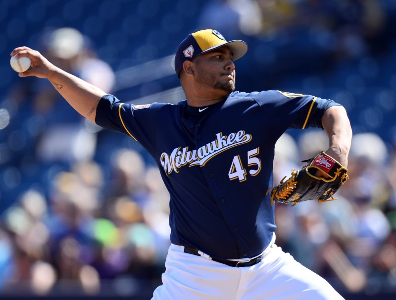 FILE PHOTO: MLB: Spring Training-Cleveland Indians at Milwaukee Brewers