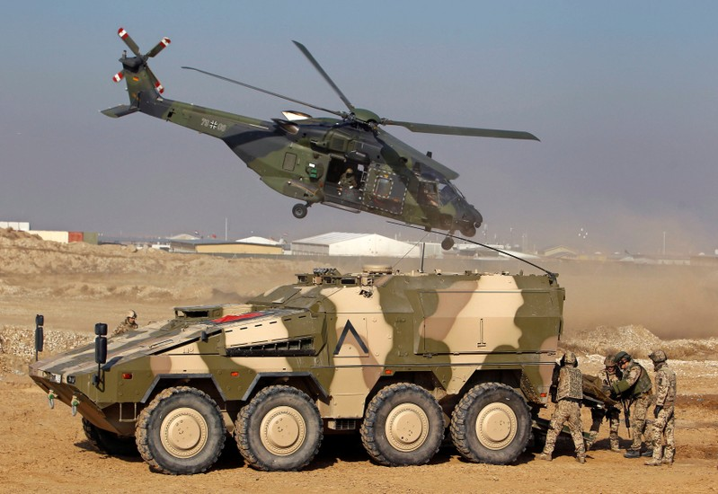 FILE PHOTO: German troops take part in a military exercise in Mazar-i-Sharif