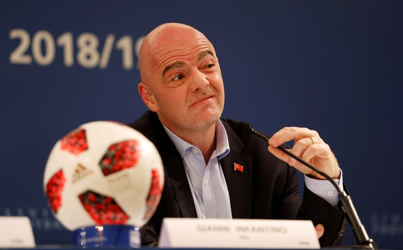 FILE PHOTO: FIFA President Gianni Infantino Media Briefing