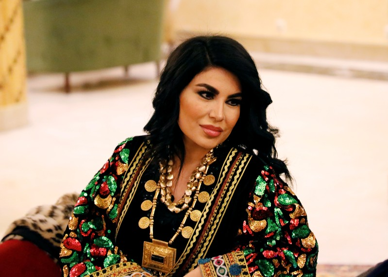 Afghan singer Aryana Sayeed is pictured at Intercontinental Hotel in Kabul