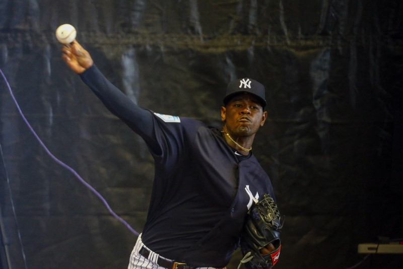 FILE PHOTO: MLB: New York Yankees-Workouts