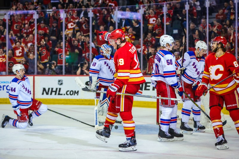 NHL: New York Rangers at Calgary Flames