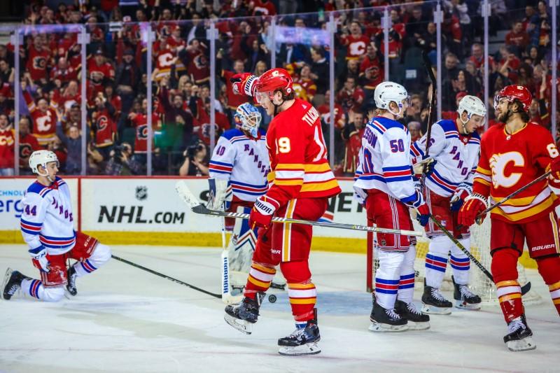 NHL: New York Rangers at Calgary Flames