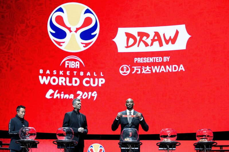 Retired NBA player Kobe Bryant draws teams for FIBA World Cup in Shenzhen