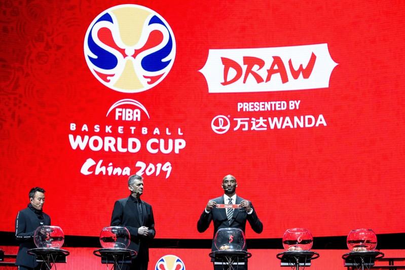 Retired NBA player Kobe Bryant draws teams for FIBA World Cup in Shenzhen