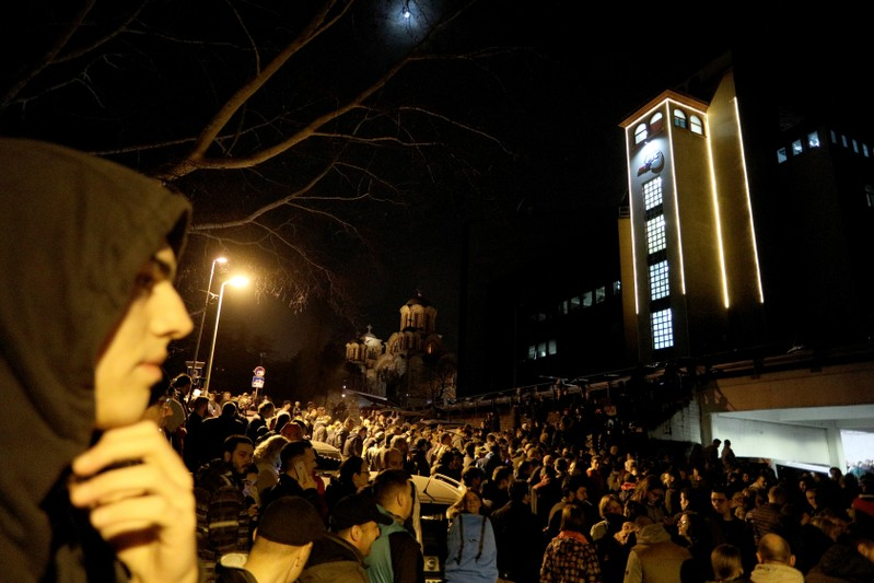 Protesters briefly broke into Serbia's state television building during a protest against Serbian President Aleksandar Vucic and his government in central Belgrade, Serbia