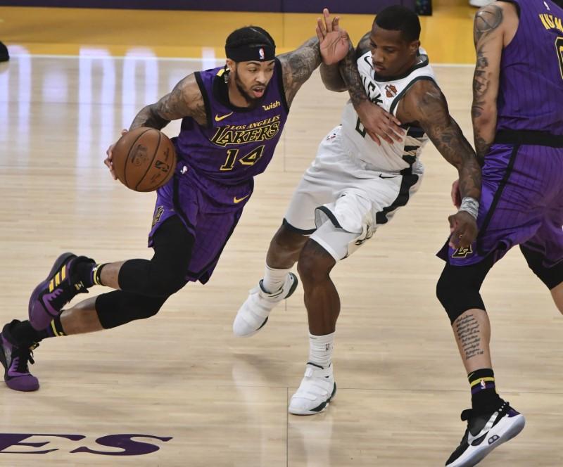 NBA: Milwaukee Bucks at Los Angeles Lakers