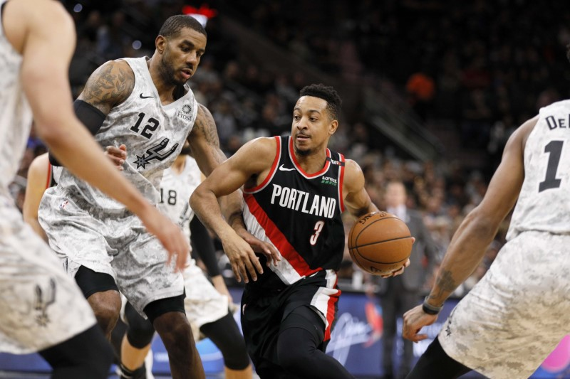 NBA: Portland Trail Blazers at San Antonio Spurs