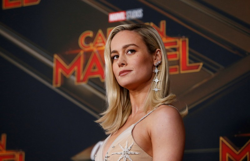 FILE PHOTO: Cast member Brie Larson poses at the premiere for the movie