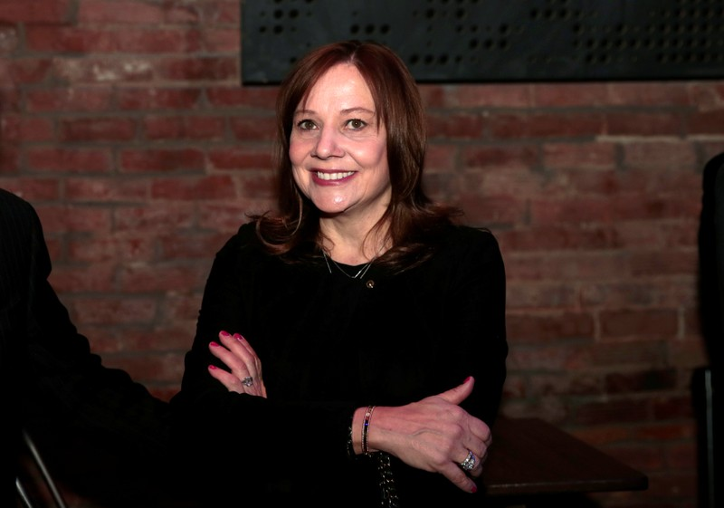 General Motors Chairman and CEO Mary Barra attends the reveal of the 2020 Cadillac XT6 SUV on the eve of press days of the North American International Auto show in Detroit