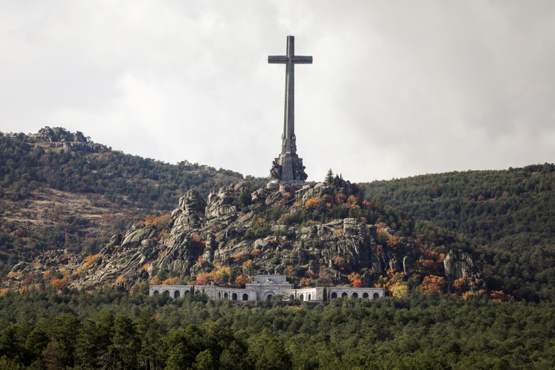 FILE PHOTO: General view of the Valle de los Caidos (Valley of the Fallen), the mausoleum holding the remains of former Spanish dictator Francisco Franco, on the 43rd anniversary of his death in San Lorenzo de El Escorial