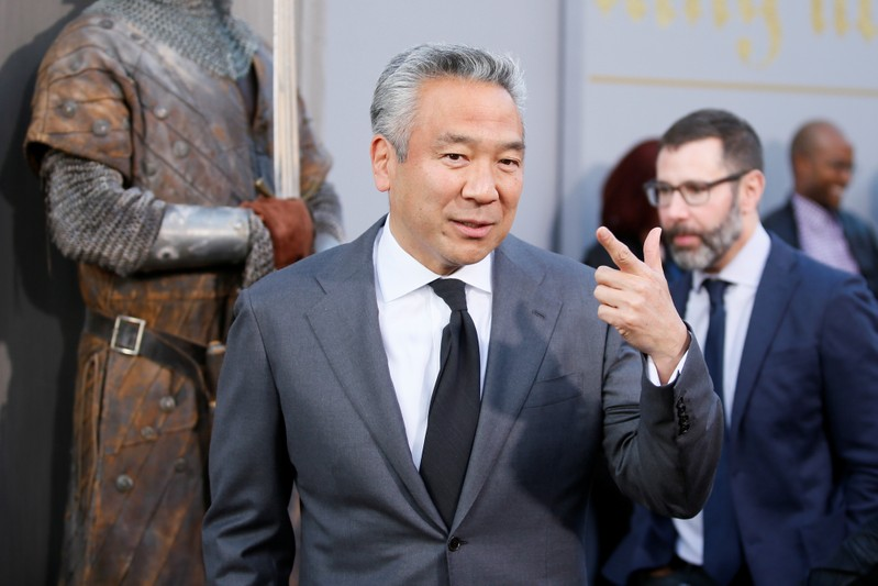 FILE PHOTO:  Chairman and CEO of Warner Bros. Entertainment Kevin Tsujihara arrives at the premiere of