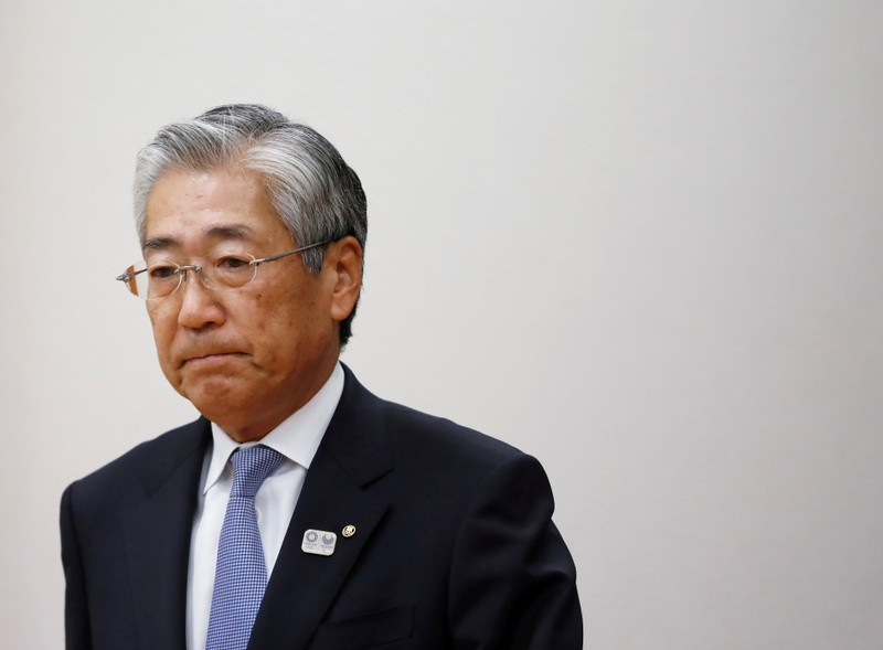 FILE PHOTO: Tsunekazu Takeda, President of the Japanese Olympic committee, attends a news conference in Tokyo