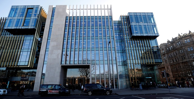 FILE PHOTO: The offices of Standard Life Aberdeen in Saint Andrew Square Edinburgh, Scotland