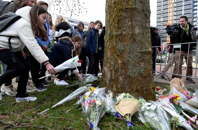 Dutch Prime Minister Rutte Visits Utrecht Shooting site, Lays Flowers